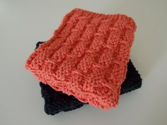 Knitted Dish Cloths  Knitted Wash Cloths  by DamsonPlumCreations