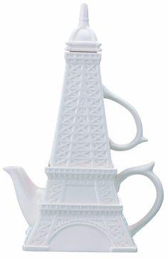 """Amazon.com: Эйфелева башня """"чай для одного"""" чайный набор: Eiffle башня чайный набор для одного: кухня и столовая"""