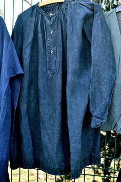 indigo shirts via sokokashiko