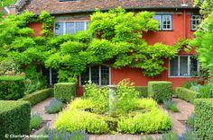Herb garden at Wyken Hall designed by Arabella Lennox-Boyd
