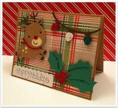 Create a critter cartridge reindeer card Cricut Christmas Cards, Homemade Christmas Cards, Cricut Cards, Christmas Cards To Make, Xmas Cards, Homemade Cards, Handmade Christmas, Holiday Cards, Christmas Crafts