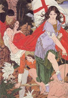 Yamamoto Takato. La série dite médiévale. Une des séries les plus riches en compilations.