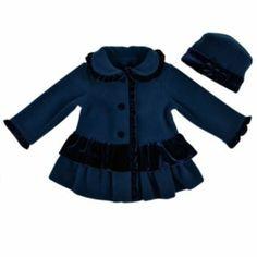 Sophie Rose Ruffle Coat & Hat Set - Toddler