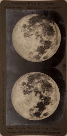 "modernizor: "" The Full Moon, Yerkes Observatory Stereo Card by Keystone View Company (created before "" Aesthetic Photo, Aesthetic Art, Aesthetic Pictures, Wall Collage, Wall Art, Aesthetic Wallpapers, Graphic Design, Drawings, Illustration"