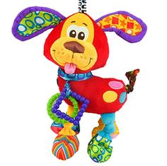 Brand Bed stroller Hanging 37cm Dog Plush vibration Toy Rattle Teether newborn baby Gift Multifunction Educational by Mama Store -- To view further for this item, visit the image link.Note:It is affiliate link to Amazon.