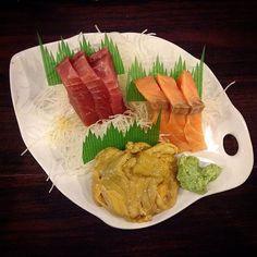 you're only the best i ever had. # #Kikufuji #LittleTokyo #Sashimi #Tuna #Salmon #SeaUrchin #Sake #Maguro #Uni by gorski1991