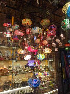Grand Bazaar Shopping - Buy From Grand Bazaar Istanbul Shops Turkish Lanterns, Turkish Lamps, Grand Bazaar Istanbul, Turkish Coffee Set, Chandelier, Decoration, Mosaic, Christmas Tree, Lights