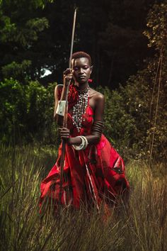Osborne Macharia for Fierce Magazine on Behance. Shoot at Karura Forest Nairobi with fabric provided by Vlisco for Fierce magazine and assorted jewelry from different designers.