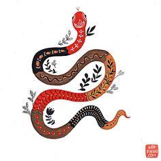 Serpent Giclee Print par MirDinara sur Etsy