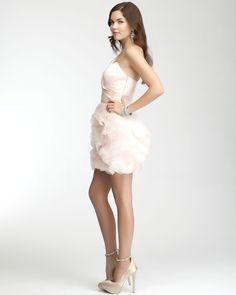 Cute cupcake bridesmaid dresses. #bebe #bridal #weddingideas