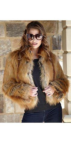 Golden Fox Faux Fur Fashionista Jacket | Fabulous-Furs