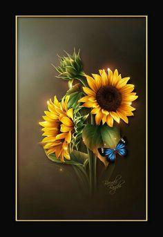 Personal website of artist Barnali Bagchi. Sunflower Garden, Sunflower Art, Oil Painting Flowers, Garden Painting, Art Floral, Sunflowers And Daisies, Sunflower Pictures, Sunflower Wallpaper, Botanical Flowers