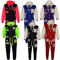 Kids Girls Boys Hooded Baseball Varsity Tracksuit Hoodie Bottom Set Joggers 7-13 *** Click image to review more details. We are a participant in the Amazon Services LLC Associates Program, an affiliate advertising program designed to provide a means for us to earn fees by linking to Amazon.com and affiliated sites.