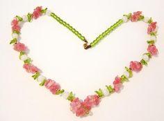 vintage glass flower necklace