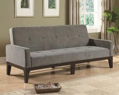 SOFA BED/ FUTON !Tufted with Track Arms!