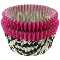 Zebra Baking Cups/hobby lobby has them! Get some for cupcakes!