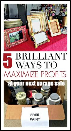 Market your garage sale like a pro with these 5 genius strategies for maximizing profits! Make that garage sals worth your effort! #garagesaletips #yardsaletips #tagsaletips #sellyourstuff Garage Sale Signs, Yard Sale Signs, Garage Sale Pricing, For Sale Sign, Garage Sale Organization, Organization Hacks, Organizing Ideas, Diy Auto, Sell Your Stuff