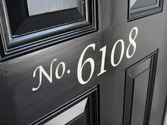 Love this house number idea!
