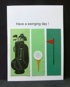 CAS225 Golf Birthday by hobbydujour - Cards and Paper Crafts at Splitcoaststampers