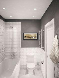 Simple Bathroom Shower Makeover Decor Ideas to Upgrade Your Bathroom Bathroom Design Small, Bathroom Layout, Bathroom Interior Design, Bathroom Colour Schemes Small, Small Vintage Bathroom, Bathroom Colours, Bath Design, Interior Ideas, All White Bathroom