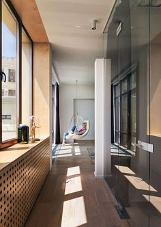 Hanging chair (see more) #balcony #hanging #chair #window #view #inspiring #inspiration #idea #modern #living #interior #home #decor #apartment #kharkiv #ukraine