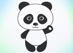 Tutorial How to draw panda bear step by step for children any age free online.