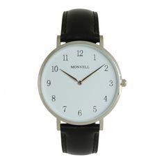 Ein Blick genügt und Du weißt genau, welche Stunde gerade geschlagen hat. Denn dank des klar strukturierten Ziffernblatts musst Du nicht zweimal schauen, um die Zeit zu lesen. Und wenn Dir Beständigkeit und Zeitlosigkeit, gepaart mit edlen Elementen, bei einer Armbanduhr gefallen, brauchst Du nicht weitersuchen, denn all das vereint das Modell Numbr Cadro gekonnt und stilsicher. Watches, Leather, Accessories, Stricken, Bracelet Watch, Wristwatches, Clocks, Jewelry Accessories