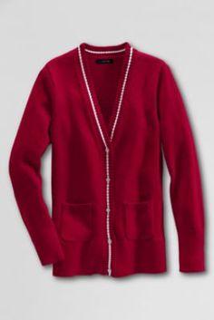 Women's Long Cardigan Sweater from Lands' End #bicmarkit
