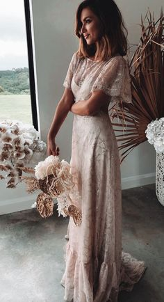 of Grace Loves Lace Wedding Dresses;Courtesy of Grace Loves Lace Wedding Dresses; The Capri Gown by Grace Loves Lace Berta Wedding Dresses Fall 2020 - Napoli Bridal Collection - Belle The Magazine Wedding Dress Tea Length, Making A Wedding Dress, Boho Wedding Dress, Dream Wedding Dresses, Designer Wedding Dresses, Wedding Gowns, Backless Wedding, Mermaid Wedding, Crochet Wedding Dresses