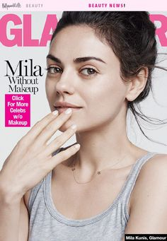 [PICS] Mila Kunis Without Makeup On 'Glamour' — See Her Bare-Faced Cover - Hollywood Life