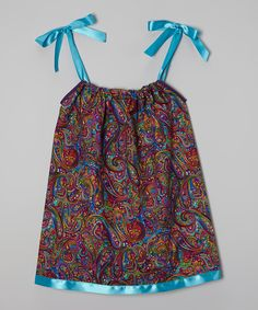 Look at this Cozy Bug Purple & Aqua Paisley Swing Dress - Infant, Toddler & Girls on #zulily today!