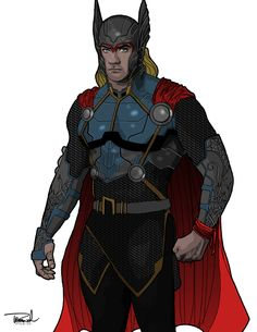 Thor Odinson by Thomas Branch Superhero Villains, Marvel Characters, Marvel Heroes, Marvel Comics, Comic Books Art, Comic Art, Marvel Costumes, The Mighty Thor, Super Hero Costumes