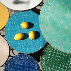 Marockanska mosaikbord!