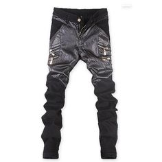 Cheap pants hombre, Buy Quality fashion joggers directly from China pantalon jogger Suppliers: 2017 Men Skinny Pencil Pants Pantalon Joggers Trackpants Men's Casual Fashion Slim Fit Motorcycle Faux Leather PU Pants Hombre Mens Leather Pants, Skinny Leather Pants, Skinny Pants, Motorcycle Leather, Pu Leather, Stitching Leather, Straight Trousers, Slim Pants, Men's Pants