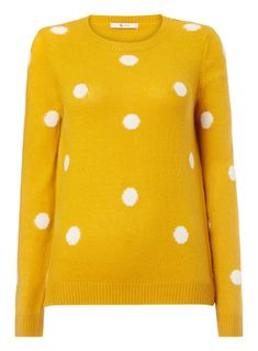 SKU: SS18 SPOT INTARSIA JUMPER:Yellow