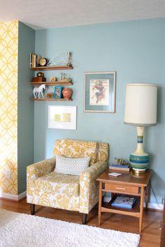 Quirky vintage living room via dream green diy