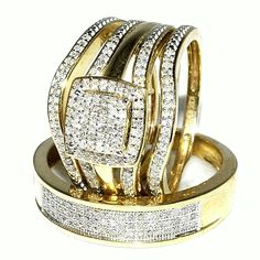 -  Get Most Brilliant 3 Piece Wedding Ring Sets for Unforgettable Wedding. Wedding is a special occasion for most couple in this planet. Usually, they us... -  - Get Most Brilliant 3 Piece Wedding Ring Sets for Unforgettable Wedding