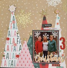 Fal la La by Crate Paper.   Layout design by Jennifer Gatewood for Scrappin' in the City.