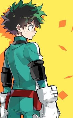 Izuku Midoriya (guess where Ochako is looking at) : BokuNoHeroAcademia
