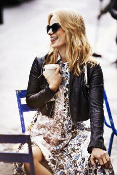 Magdalena Cielecka Polish Girls, Style Inspiration, Style Ideas, Leather Skirt, Chic, Celebrities, Lady, Skirts, Pattern
