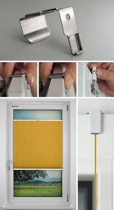 Der neue sensuna® Clip zur Befestigung Ihres Plissees direkt am Fensterrahmen
