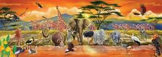 safari floor puzzle 100 pc melissa & doug jigsaw puzzles toy jungle animals gift