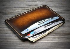SMALL & THIN Minimal Leather Wallet. 4 Front Pocket by Odorizzi