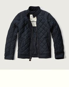 The always-stylish bomber silhouette features an quilted exterior, a full zipper closure, front zipper pockets and snap closure at mockneck, reinforced woven yoke, Classic Fit, Imported<br><br>100% Polyester