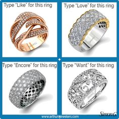 Add a comment... with your favorite ring. #Like #Love #Encore #Want #SimonGJewelry #sparkle #gift  #minneapolis #twincities #stpaul #minnesota #arthursjewelers #jewelry #event #weddinginspiration #love #beauty #pretty #brides #engagement #diamond #engaged