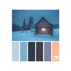 Design Seeds for all who color winter night ❤ liked on Polyvore