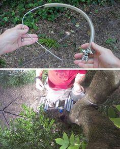 Fun DIY Zipline | How To Build Zip Line In The Backyard by Pioneer Settler at http://pioneersettler.com/build-zip-line/