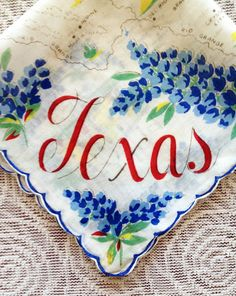Vintage Large Texas Handkerchief