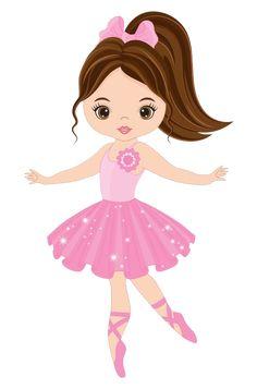 Vector cute little ballerina dancing Vector ballerina girl in pink dr Ballerina Cartoon, Ballerina Kunst, Ballerina Cakes, Ballerina Dancing, Little Ballerina, Cartoon Images, Cartoon Drawings, Cartoon Art, Cartoon Characters