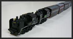 Steam Locomotive Choro Q Free Railway Paper Model Download - http://www.papercraftsquare.com/steam-locomotive-choro-q-free-railway-paper-model-download.html